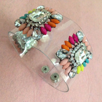 Jewelry wholesale Hot sale Bracelets & Bangles Trend vintage 2014 Crystal Cuff shourouk Bracelet fashion for women Factory Price