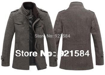 Men's Шерсть coat jackets Outerwear/Winter windproof Шерсть Overcoat Big Размер ...