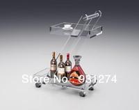 Acrylic folding four-wheel hand carts Handmade hand trolleys Modern new design  Hotel trolley Home serving  carts Bar carts