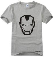 2014 summer new brand Marvel Iron Man Short Sleeve Cartoon print 100% Cotton casual men t-shirts t shirt tshirt camisas top