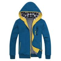 2014 New Fashion Spring Autumn Men Casual Hoodies Sport Jacket Sweatshirts Overcoat Top Quality