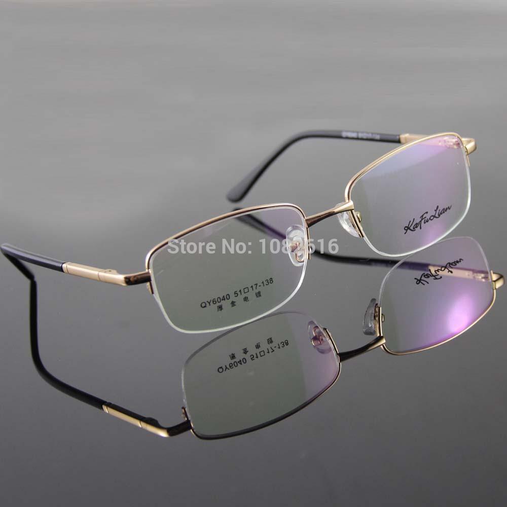 3 Color Men's Glasses Half Rimless Spectacles Silvery White Gun Metal Gold Glasses Frame Brand Optical Eyeglasses Eyewear(China (Mainland))