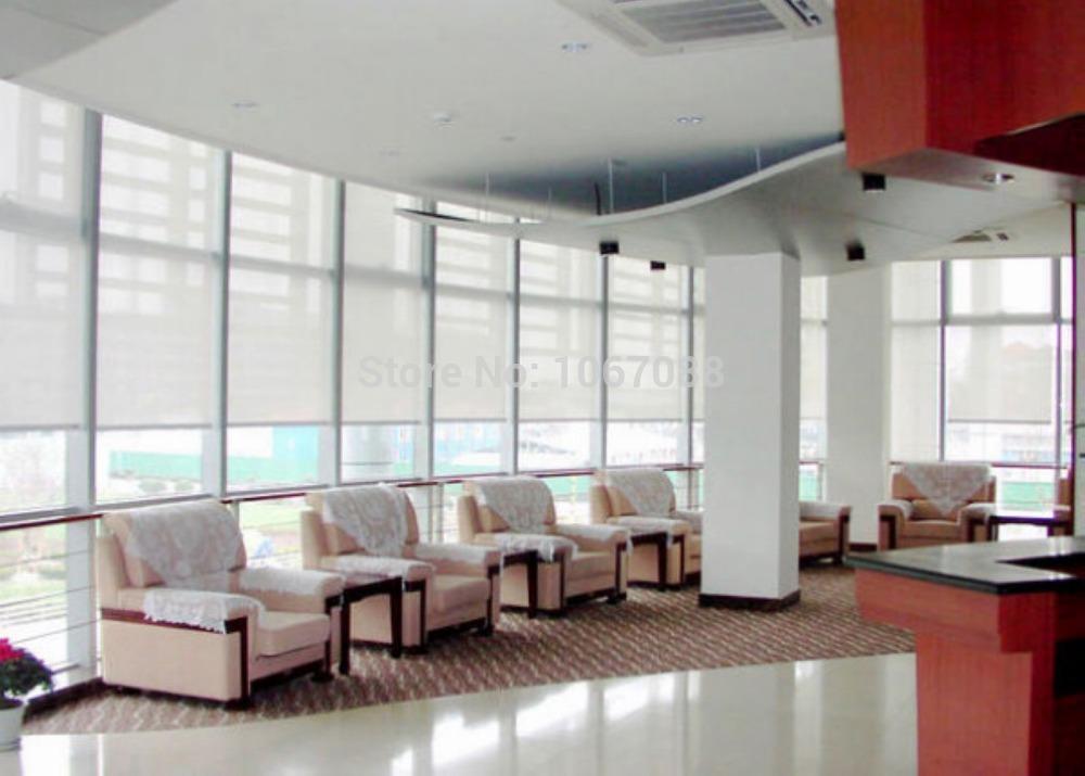 Doorschijnend zon scherm rolgordijnen in wit 35 polyester 65 pvc gordijn voor keuken balkon jpg