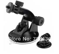 Suction Cup Mount For GoPro HD HERO 2/ 3 Camera Tripod Adapter Screw  Nut New for Gopro Accessory accessories