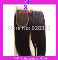 3 Part Closure Bleached Knots Human Hair Top Pieces Peruvian Virgin Hair Closures Pansyhair Lace Front Closures 3 Way Closure