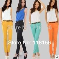 Fashion Women's Pants Slim Harem Pencil Pants For Office Ladies Career Capris Roupas  Female OL Trousers Candy Colors J0849