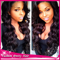 Stock Soft Unprocessed 100% Human Hair U Part Wigs Brazilian Body Wave Middle 0r Side Part Upart Wig Virgin Hair For Black Women