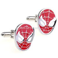 High Quality Brazil Hot Sale Brass Shirt Gemelos Mens Superhero Red Batman Silver Make Custom Cufflinks