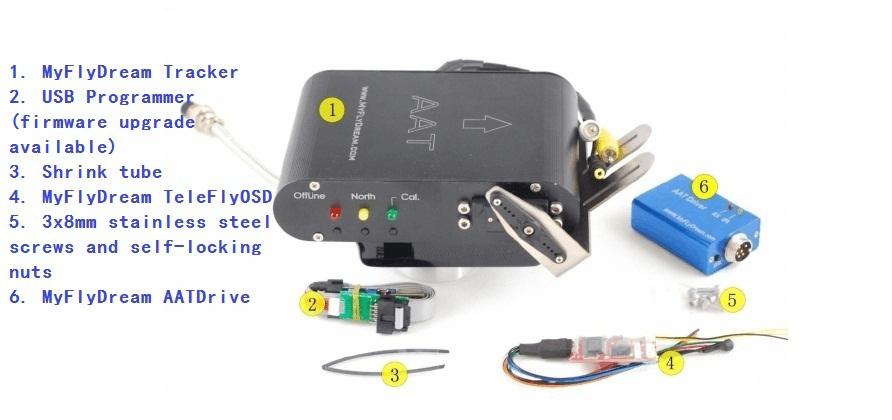 6 Passage AAT antenna automatically tracks PTZ FPV system MyFlyDream(China (Mainland))
