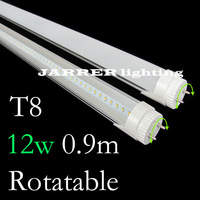 0.9m 3 Feet 12W T8 lamp rotating LED Tube 90cm Lighting 900mm rotation Fluorescent Tubes Rotatable G13 Wide voltage AC85-265v