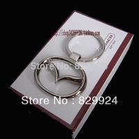 2pcs/lot free shipping alloy mazda car logo keychain / auto key rings/car accessory