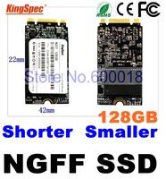 kingspec 42*22mm slim NGFF hd ssd 128GB  Pcie msata Solid State Drive for Thinkpad E531 E431 X240 S3 S5 T440S T440 T440P W540