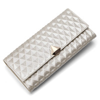 New 2014  Spring Cowhide dimond women  wallets wallet female cowhide long design money clip