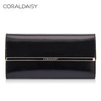 Coraldaisy New 2014 Spring Women Genuine Leather Wallet Long Design Purse Female Money Clip