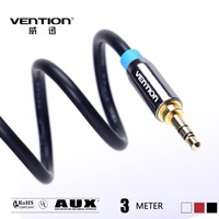 3M Black cables audio 3.5mm to 3.5 mm male to male extension cable aux cable  for car/headphone/PM4/PM3 vention