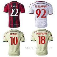 14 15 Ac Milan Jersey New Soccer BALOTELLI SHAARAWY PAZZINI KAKA TOP Thailand Quality Football Shirts 2015