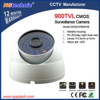 900TVL 48pcs LED CCTV Dome IR Night Vision Surveillance Camera metallic housing wandal-proof and weatherproof camera