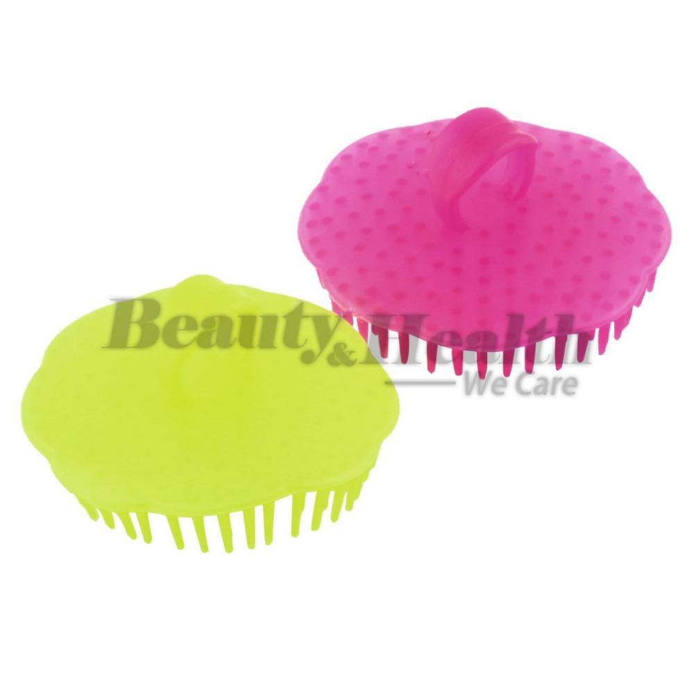 5pcs New Super Professional Head Hair Shampoo Scalp Massager Brush Comb(China (Mainland))