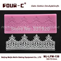 NEW Sugar art silicone lace mat Lace border silicone mold,cake border,