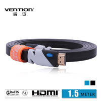 Black Color HDMI Cable 1.5M Gold Plated Connection V1.4 HD 1080P TV Cable Computer cables Vention