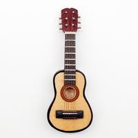 1:12 Guitar Wooden Miniature Musical Instrument Music DollHouse Figure Best Gift China Toy Guitar Suppliers Music Miniatures