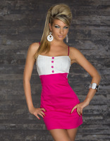 Lady's sexy stylish night dress clubwear bodycon Mini dress off shoulder blue black rose red free size & XXL free shipping
