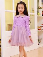 Wholesale 5pcs/lot new Chiffon Dress Girls 3D Flower Tutu  Princess Party  Kids lace Dress 3 color GQ-309