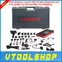 Top 2014 Super Launch X431 IV Master Version Free Update via internet 100% Original Auto Diagnostic tool+DHL Free Shipping