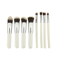 8 PCS White MakeUp Brush Cosmetic Set  Eyeshadow wood Brush Blusher Tools Make Up Brush Pinceis/Pincel Maquiagem 2 Days Ship Out