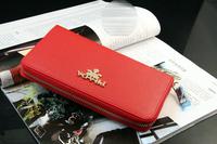 new 2014 men long high-grade zipper bags wallet card bags women wallet card package
