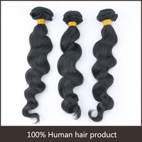 Loose Wavy Natural Color Brazilian Virgin Hair Extensions Human Hair Weft more Wave 1pcs/lot unprocessed hair 8'' to 30''