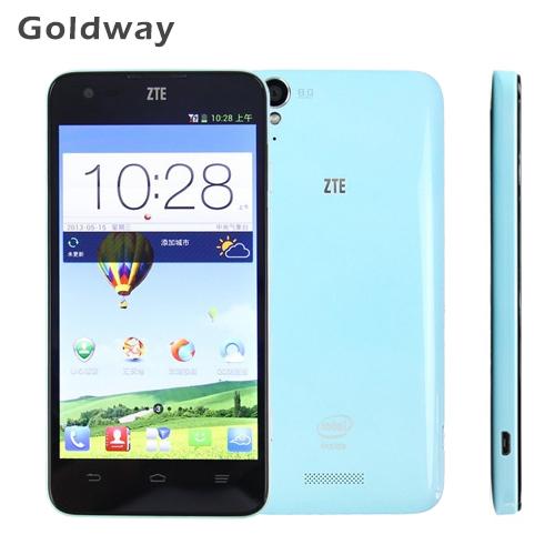 Original ZTE V975 Geek 3G Mobile phone 2GB RAM 8GB ROM 5.0'' IPS 1280x720 8.0MP Intel Z2580 Android 4.2 WCDMA Goole play Russian(Hong Kong)