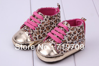free shipping !leopard Beautiful children's shoe gold leopard Baby Shoes color leopard soft sole First Walkers baby shoe GX-312