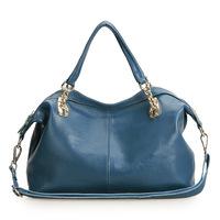Wholesale-Lady Genuine Cow Leather Shoulder Bag Fashion Classic Retro Style Messenger Bags Women Handbags,2 Size+4 Colors,Q0412