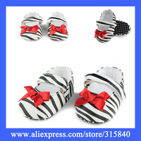 1Pairs New 2014 Hot Baby First Walkers With Fashionable Red Band Knot  Spring Autumn Bebe Shoes For Girls -- ZYS60 Wholesale