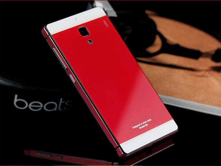 xiaomi hongmi redmi red rice 1s case metal.new 2014 arrival tempered glass cover with Aluminum edge width for xiaomi redmi 1s.
