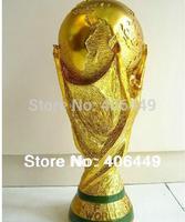 "2014 Brazil World Cup Trophy Model  1:1 Full Size RESIN  Titan  Cup Souvenir trophy, resin materials 14""(36CM)   A01"