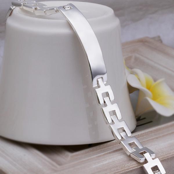 NEW 2015 Wholesale Promotion 925 Silver Bracelet watchband Bracelets Man Jewelry