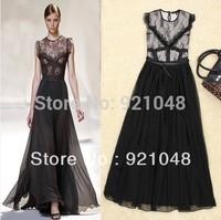 New 2013 Fashion Women Casual Dress Hot Selling Lace One Piece Dress Sleeveless  Dress