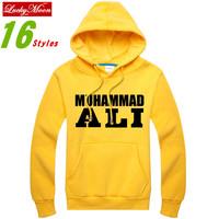 Muhammad ALI MMA 2014 New Fashion Men Casual Sport Hoodie Sweatshirt Thick Tops Winter Big Size Sweatshirts DIY Loose Hoodies