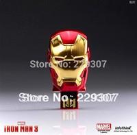 2013 Hot sale Fashion Avengers Iron Man 3 LED Flash 128MB-32GB USB Flash Drive Memory ironman hand Pen Drive Stick Pen/Thumb/Car
