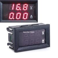 DC 0-100V 10A Dual Red LED Digital Voltmeter Ammeter Panel Amp Volt Gauge Volt Amp Meter TK1381