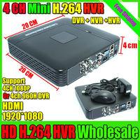 Mini 4CH H.264 CCTV DVR NVR Recorder P2P iCloud 4ch Full D1 Up to HD 1920*1080 CCTV DVR 1080P ONVIF NVR Recorder Free Shipping