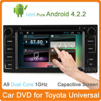 Free Shipping 2014 Newest 2 Din Pure Android 4.1 For Toyota Vios Car Dvd Player Gps Navigation StereoCapacitive A9 Dual Core