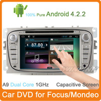 Free Shipping 2014 Newest Pure Android 4.1 Dvd For Ford Focus Car Pc Player A9 Dual Core Gps Navi Cpu 1G Capacitive Free Wifi