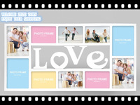 Love 10 one piece photos wall combination photo frame celebrant missionware eco-friendly  wedding favors and gifts 2pcs/lot
