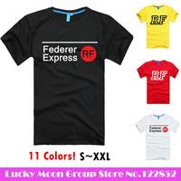 2014 personality Roger Federer RF Tennis T-Shirts Custom DIY Tee short t-shirt printing round neck 100% Cotton tshirt sports