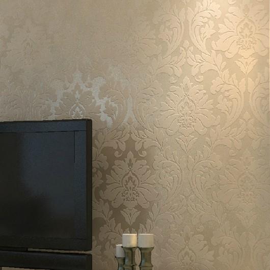 Slaapkamer Wit Beige : Modern Metallic Gold Wall Paper