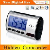 Multi Function Alarm Clock Shape Hidden Digital Camera Clock Mini Camcorder DVR Hidden Night Version Camera AD0032