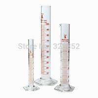 Glass Cylinder Accurate ClassA Borosilicate Glassware  3 Piece Set 10, 50 & 100ml